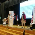 The British play The World Turned Upside Down at Yorktown