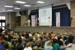 American Revolution with ARTZ OUT LOUD student audience