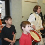 American Revolution with ARTZ OUT LOUD students march in