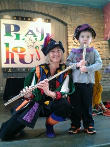 Pied Piper Cincinnati Playhouse Donna with young piper
